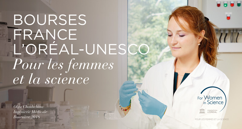 Call for application for L'Oréal-UNESCO French scholarships
