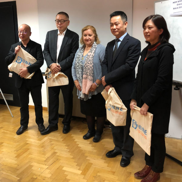 The President of Donne & Scienza, Sveva Avveduto (in the middle), with the delegation of Sichuan Academy of Social Sciences